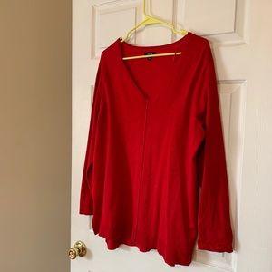 Apt 9 Red Tunic Sweater--- Size 1X